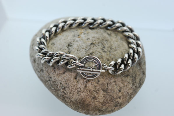 Massives Panzerarmband in Silber