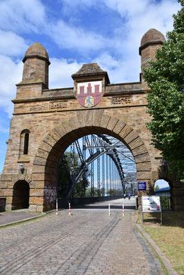Alte Süderelbbrücke. Harburger Portal.