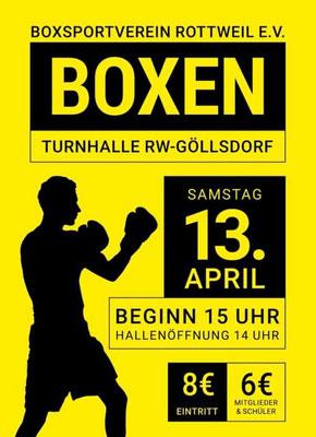 13.4.2019 in Rottweil (D), Davit vom Box-Ring Zürichsee Horgen