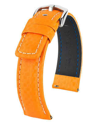Carbon Orange coutures blanches