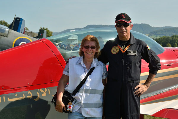 Op de foto met Khaled Sakarneh van The Royal Jordanian Falcons