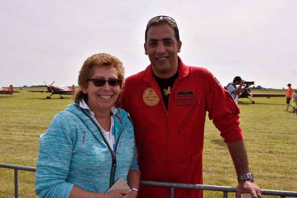 Op de foto met Jamil Zayyad van The Royal Jordanian Falcons