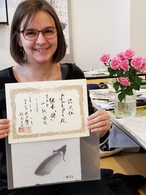 墨絵教室 水墨画教室 東京 さいたま Sumie Suibokuga Ink painting Tokyo Art class