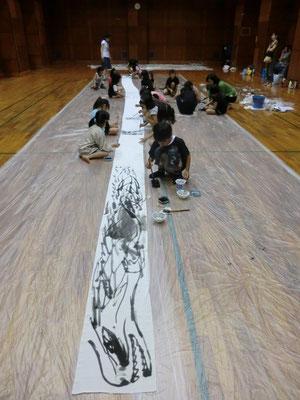 こども アート 水墨画 絵画教室 ワークショップ 小学生 幼稚園