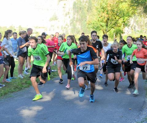 Start des 1000m Laufes