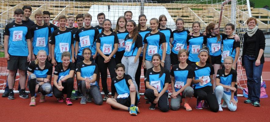 Leichtathletik Sept. 17: Das Team vom OSZ Näfels holte in der Leichtathletik am meisten Punkte für den Glarner Schul-Cup