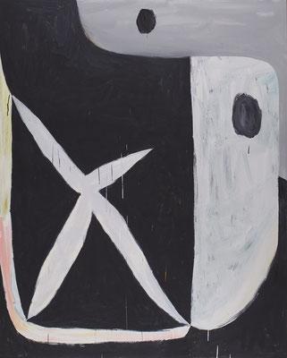 2018.11. Pigmentos en emulsión acrílica y vinílica / lienzo. 162 x 130 cm. Fuentemilanos, 2018
