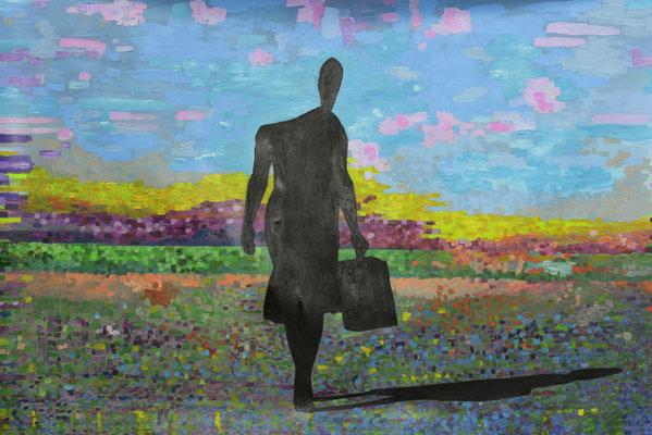 El viaje. Impresión y acrílico s/lienzo. 144x96 cm. 2016