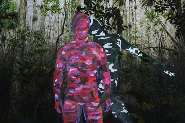 Sobrevivientes. Impresión y acrílico s/lienzo. 144x96 cm. 2016