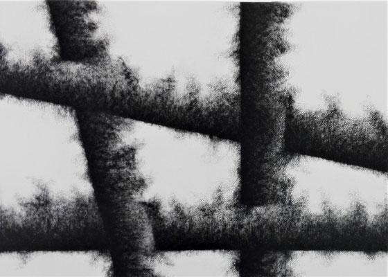 Estallidos VII. Mixta s/papel Fabriano. 50x70 cm. 2017