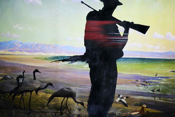 El cazador. Impresión y acrílico s/lienzo. 144x96 cm. 2016