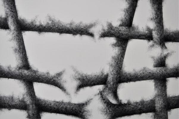Estallidos II. Mixta s/papel Fabriano. 50x70 cm. 2017