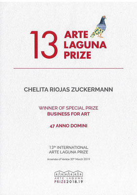 1° Premio al 13° Premio Arte Laguna nella categoria Business for Art 2019