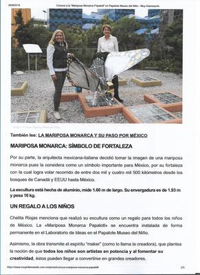Articolo su Papalotl, Messico 2019