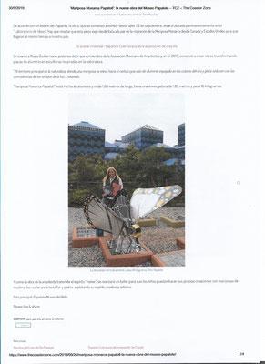 Articolo sulla farfalla Monarca Papalotl al Museo Papalote di Città del Messico 2019