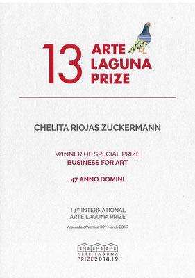 1° Premio al 13° Premio Arte Laguna nella categoria Business for Art 2019