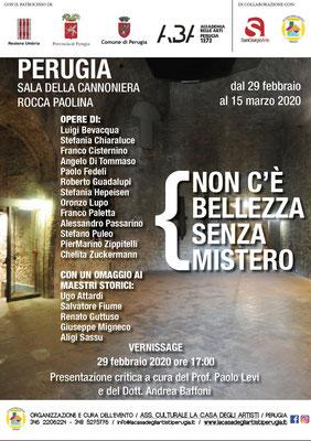 Mostra Perugia: NON C'È BELLEZZA SENZA MISTERO 2020