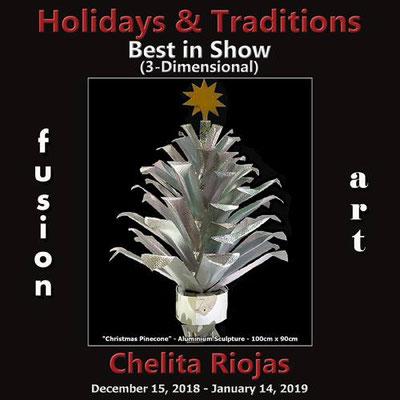 """1° Premio assoluto nella categoria 3D nel concorso """"Holidays & Traditions"""" a Palm Springs, USA 2018"""