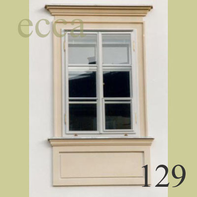 ecca Bild 129: Fassadenprofil, Überdachung, Parapetfeld