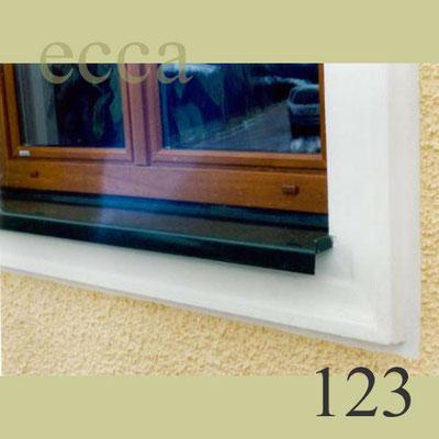 ecca bild 123: Detailansicht Gehrung/Eckausbildung