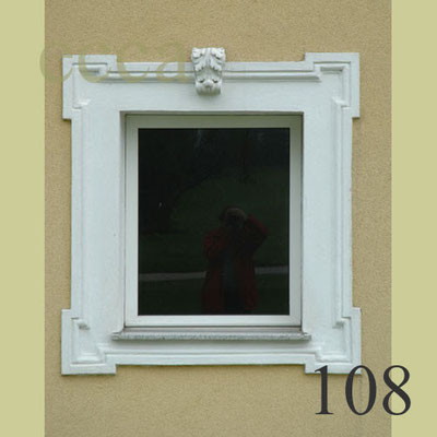 """ecca Bild 108: Rahmenprofil mit """"Ohrenausbildung"""", Schlussstein"""