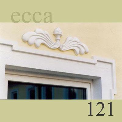 "ecca Bild 121: Detail: Linzerstab, ""Ohrenausbildung"", Fassadenornament"