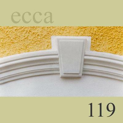 ecca Bild 119: Detailansicht Bogenprofil mit eingesetztem Schlussstein