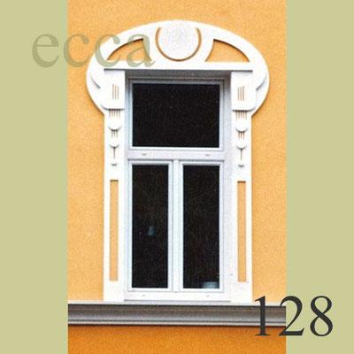 ecca Bild 128: Jugendstilfenster. CNC-Zuschnitte aus Fassadenplatten ecca-dec