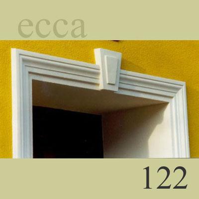 ecca Bild 122: Detail: Stuckprofil und Schlussstein