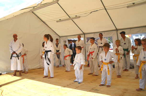 Formenlauf bei der Taekwon-Do Vorführung in Zaisertshofen