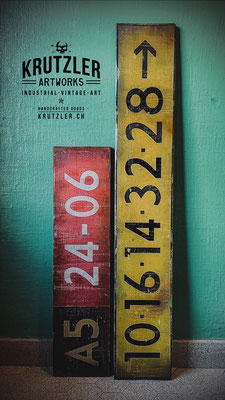 Taxiway Signs, Holz, 80x20cm - CHF 150  |  120x20cm - CHF 240