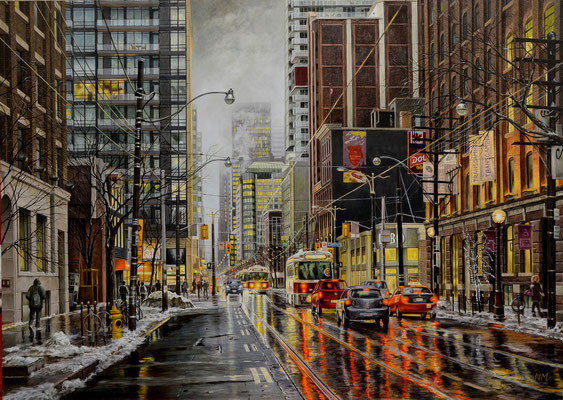 Winter in Despina, Toronto // 70 x 50 cm // oil on canvas // 🟢
