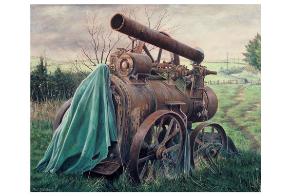 Traction Engine // oil on canvas