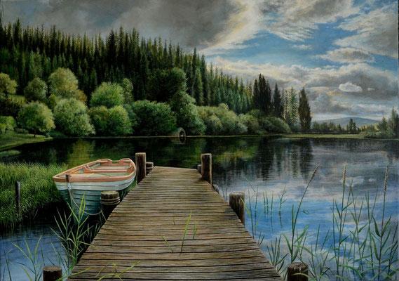 Sommerstille // Oil on canvas // 50 x 70 cm