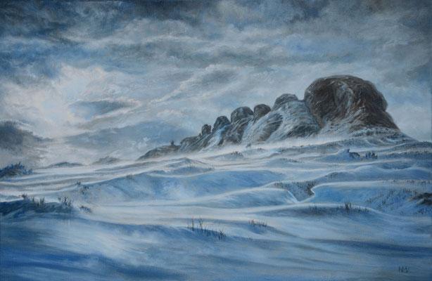 Snowdrifts over Haytor/Dartmoor