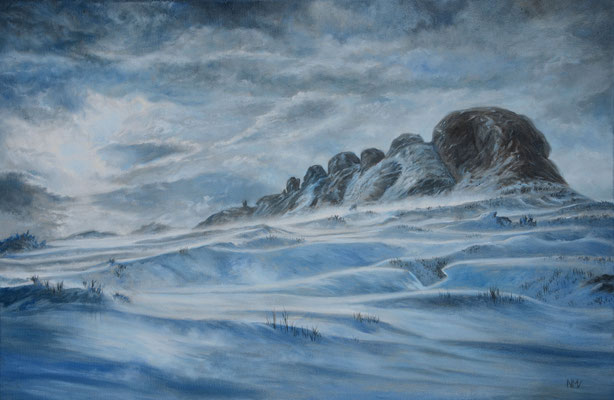 Snowdrifts over Haytor/Dartmoor // 60 x 40 cm // oil on canvas // 🟢