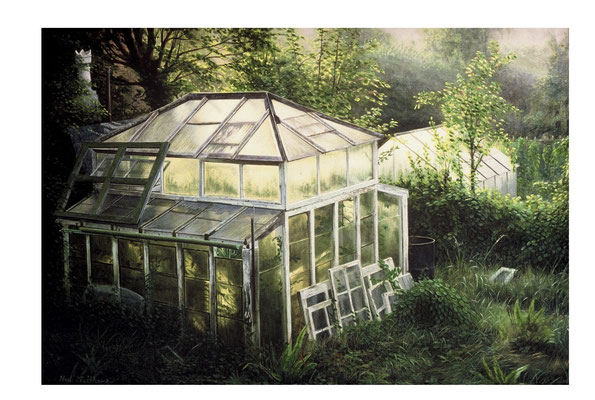 St Anns Greenhouse  // oil on canvas