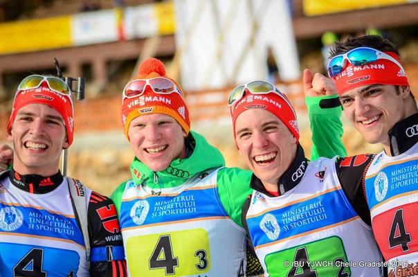 Staffel Deutschland - Reiter, Weick, Zobel und Groß