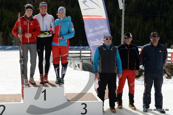 v. l. Anja Fischer SUI, Nina Zadravec SLO, Marion Berger AUT, Ivan Lechthaler, Markus Gandler und Matthias Scherer