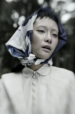 """tintagel"" - commissioned by vogue talents - photographer: andreas waldschuetz - creative director/stylist: adia trischler - makeup: anie lamm-siu - model: kwak @wilhelminamodels"