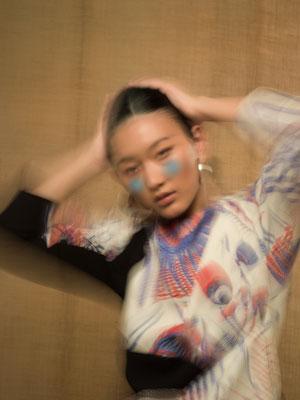 """tinged"" for BeautyArchive - photographer: violetta koenig - stylist: anastasia tolstunova - makeup & hairstyling: anie lamm-siu - model: eny jaki"