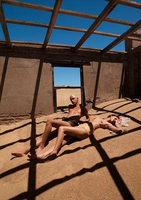 """sandpeople"" - photography: andreas waldschuetz - styling: adia trischler - hair: patrick glatthaar - makeup: anie lamm-siu - models: carmen s. & jeremy"