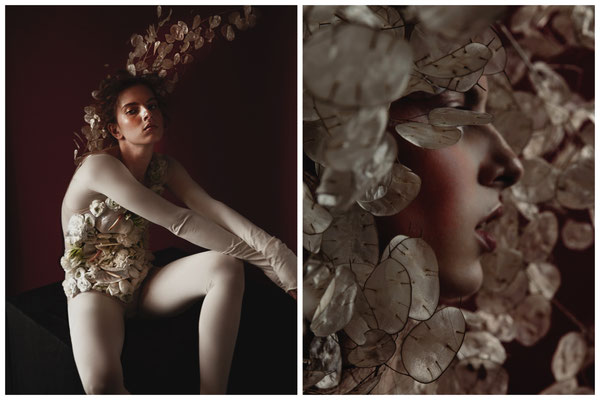 """not your bride"" - photography & creative direction: alice berg - styling/flowers: maria tyushkevich - makeup & hair: anie lamm-siu - model: bernadette vidacs"