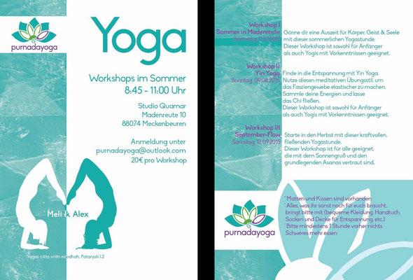 Flyer für Yoga (100€)