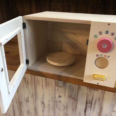 家具工房ウッドスケッチ 子供電子レンジ こども電子レンジ おもちゃ電子レンジ