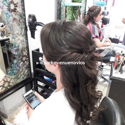 Peinado cascada para boda en Morelos