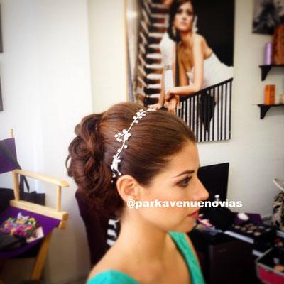 Recogido con aplicación para cabello