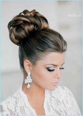peinado novia estilo elegante de noche
