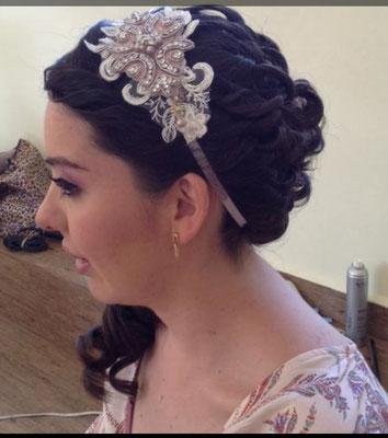 Peinado para novia romántica