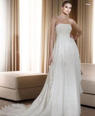 Vestido de novia para cuerpo cuadrado